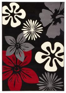 Covor negru Gloria Flora Hanse Home (diverse marimi)