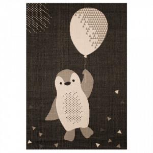 Covor negru pentru copii 170x120 cm Penguin Zala Living