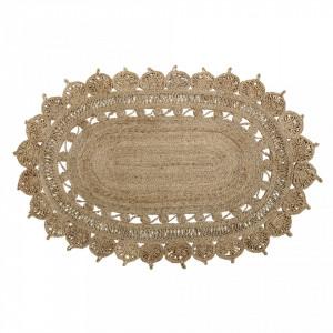 Covor oval din iuta 121x182 cm Style Bloomingville