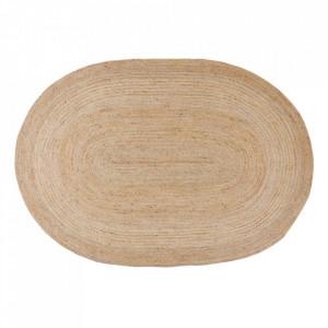 Covor oval maro din iuta 160x230 cm Rudy Ixia