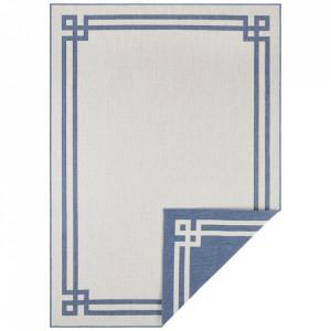 Covor reversibil albastru/crem din polipropilena pentru exterior Twin Supreme Blue Cream Bougari (diverse dimensiuni)