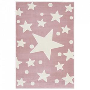 Covor roz/alb din iuta si polipropilena Estrella Livone (diverse dimensiuni)