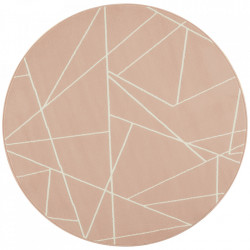 Covor roz din polipropilena 140 cm Geometric The Home