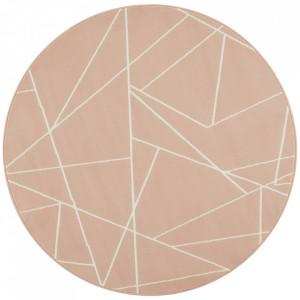 Covor roz din polipropilena 140 cm Geometric The Home