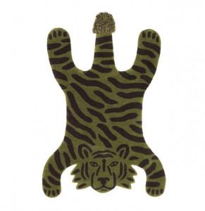 Covor verde/negru din lana si bumbac 118x160 cm Safari Tiger Ferm Living