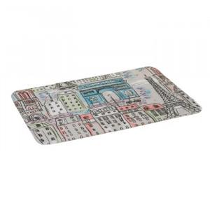 Covoras multicolor din microfibra pentru baie 45x70 cm Paris Unimasa