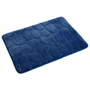 Covoras pentru baie albastru din poliester 45x70 cm Gualdo Versa Home