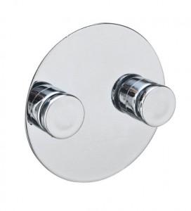 Cuier dublu argintiu din plastic ABS Turbo-Loc Wenko