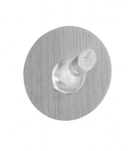 Cuier transparent/argintiu din plastic si policarbonat Static-Loc Uno Silver Medium Wenko