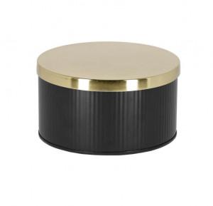 Cutie cu capac neagra/aurie din metal Quelia La Forma