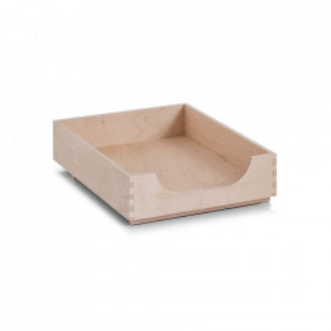 Cutie maro din lemn Birch Box Zeller