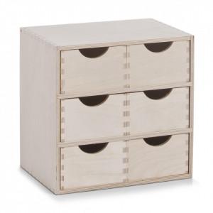 Cutie pentru bijuterii maro din lemn de mesteacan Wood Zeller