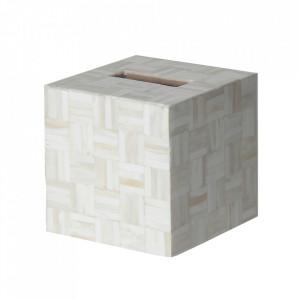 Cutie pentru servetele alba din os Zonza Vical