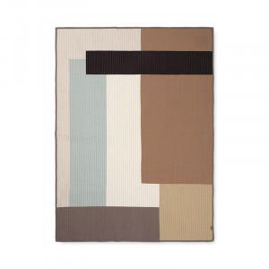 Cuvertura matlasata multicolora din bumbac 130x180 cm Shay Patchwork Ferm Living