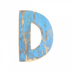 Decoratiune albastra din lemn 18 cm D Raw Materials