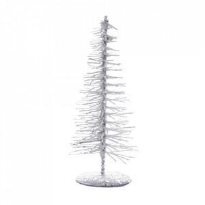 Decoratiune argintie din plastic 15 cm Winter Bloomingville
