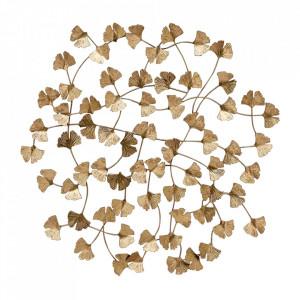 Decoratiune aurie din fier pentru perete 77x79 cm Wallflowers Be Pure Home