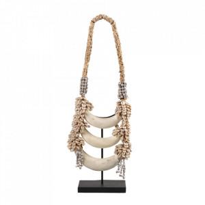 Decoratiune crem din os si scoici 56,5 cm Necklace Versmissen