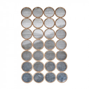 Decoratiune cu oglinda din metal pentru perete 81x142 cm Divided Circles LifeStyle Home Collection