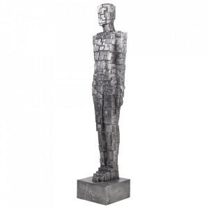 Decoratiune gri din aluminiu 183 cm Cubic Man Versmissen