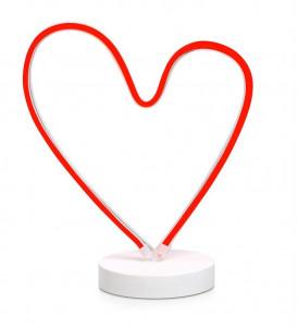 Decoratiune luminoasa LED alba/roz din metal Vegas Heart Markslojd