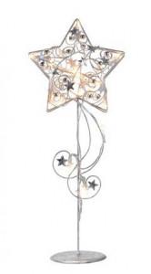 Decoratiune luminoasa LED argintie din metal Hagaberg Silver Markslojd
