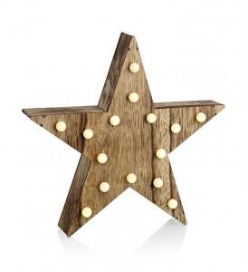 Decoratiune luminoasa LED maro din lemn Hadar Markslojd
