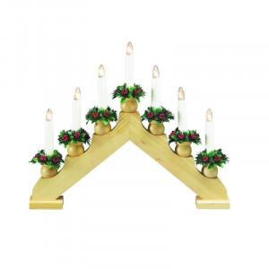 Decoratiune luminoasa maro/verde din lemn si plastic Tomas Markslojd
