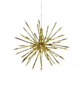 Decoratiune luminoasa suspendabila aurie din metal si plastic Hydra Large Markslojd