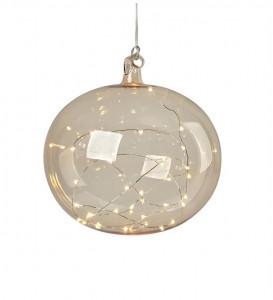 Decoratiune luminoasa suspendabila din sticla Lina Amber Markslojd