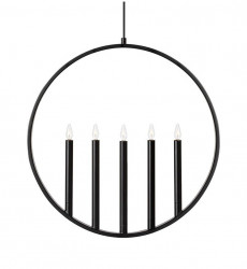 Decoratiune luminoasa suspendabila neagra din metal Surround Markslojd