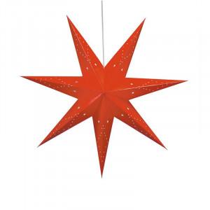 Decoratiune luminoasa suspendabila rosie din carton Saturnus Markslojd
