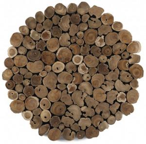 Decoratiune maro din lemn de tec pentru perete 60 cm Sawa La Forma