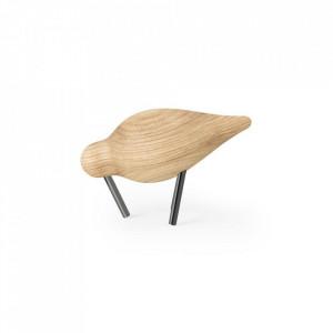 Decoratiune maro/neagra din lemn de frasin si otel 7 cm Shorebird Normann Copenhagen