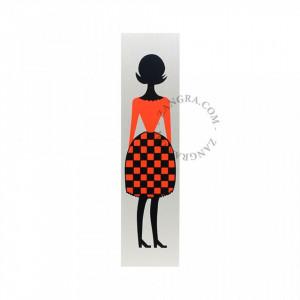 Decoratiune multicolora din aluminiu pentru usa Women Zangra