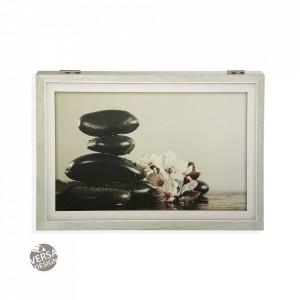 Decoratiune multicolora din lemn pentru perete 33x46 cm Zen Cover Versa Home