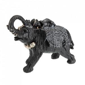 Decoratiune neagra/aurie din rasina 20 cm Elephantis Versa Home