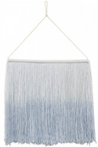 Decoratiune perete albastru deschis din bumbac 40x45 cm Tie-Dye Soft Blue Lorena Canals
