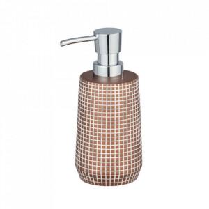 Dispenser maro/argintiu din polirasina 270 ml Ohrid Soap Bronze Wenko