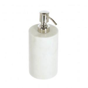 Dispenser sapun lichid alb din marmura si otel 200 ml Elenei Kave Home