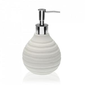 Dispenser sapun lichid alb din rasina 10x16 cm Naomi Versa Home
