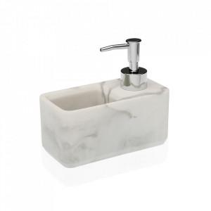 Dispenser sapun lichid alb din rasina 13x15 cm Nate Versa Home