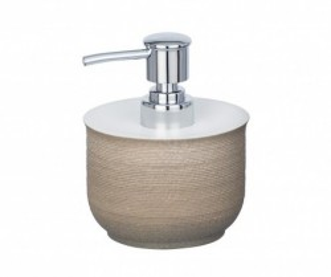 Dispenser sapun lichid maro din polirasina 240 ml Nebo Wenko