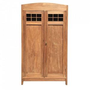 Dulap maro din lemn de tec 200 cm Savens Denzzo