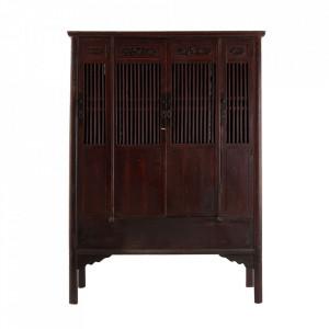Dulap maro inchis din lemn 200 cm Ambon Vical Home