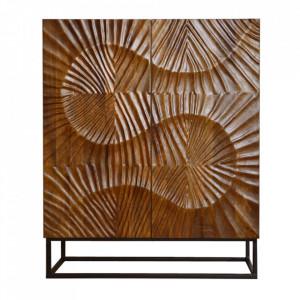 Dulapior maro din lemn de mango si metal Scorpion Invicta Interior