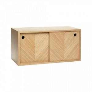 Dulapior maro din lemn pentru perete Smith Hubsch