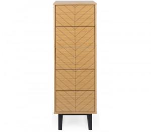 Dulapior maro din lemn si PAL 123 cm Camden Woodman