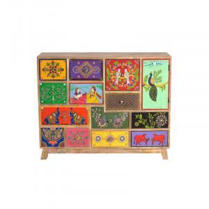 Dulapior multicolor din lemn de mango Reeve Giner y Colomer