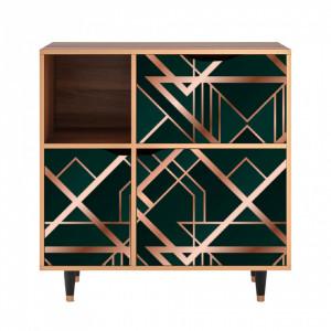 Dulapior multicolor din MDF si lemn Emerald Gatsby Furny